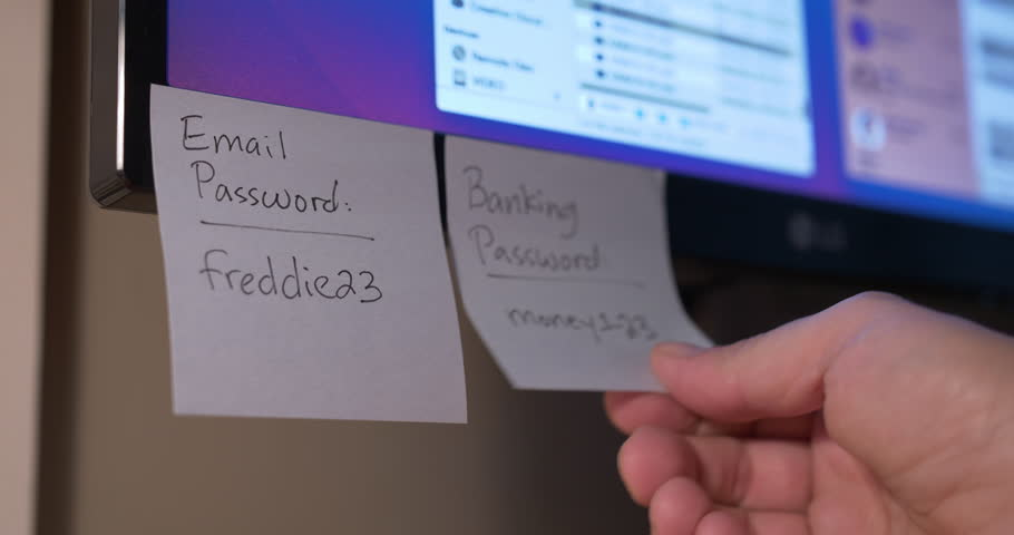 Resultado de imagen de passwords en post it